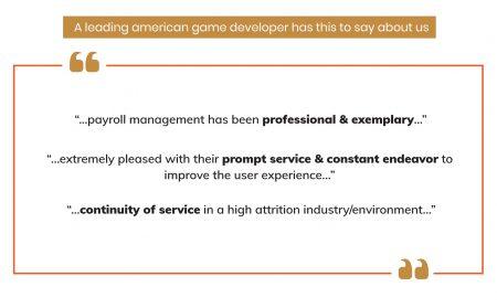 testimonial by a leading american game developer