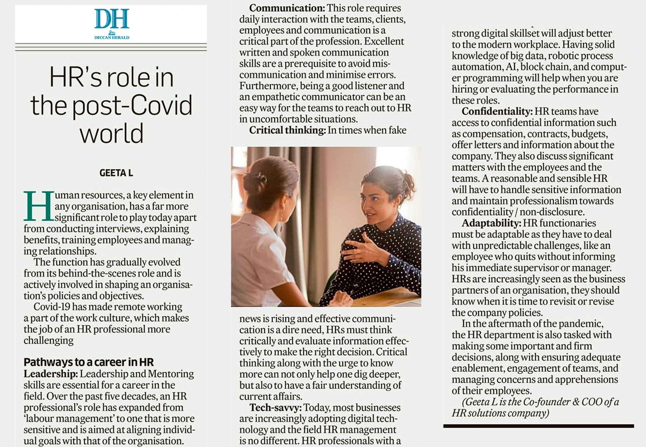 Deccan Herald newspaper article
