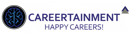 Logo of careertainment happy careers