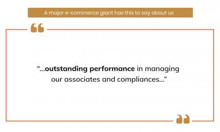 testimonial by a major e-commerce giant
